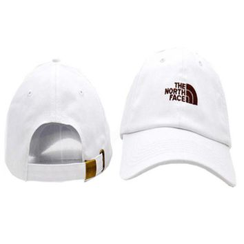 PEAPDQ7 Casual White The North Face Embroidered Unisex Adjustable Cotton Sports Cap Hat