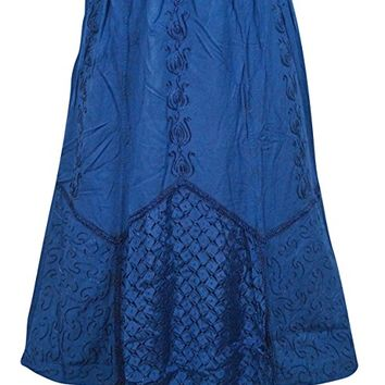 Womens Skirt Blue Embriodered Fashionable Gypsy Skirts