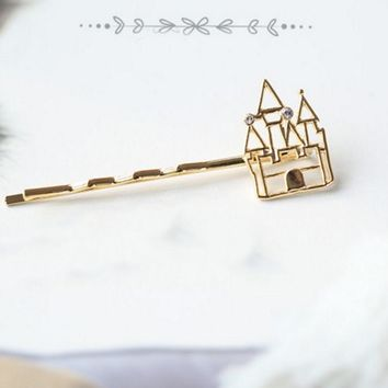 Timlee H108 Free shipping Fashion Hair Accessary Cute Castle The Pumpkin Carriage High-heeled Shoes Barrettes Hair Clips