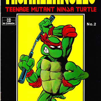 Vintage Teenage Mutant Ninja Turtles Authorized Training Manual Comic Book #2 1986 Solson Publications