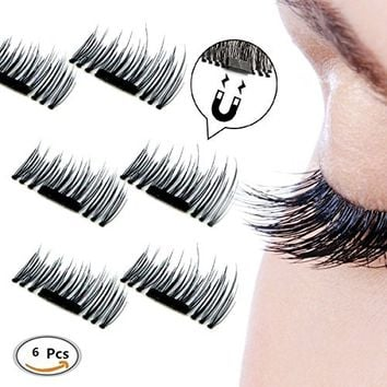 NEW! Full Lash Strip Magnetic Lashes with 3 thin magnets to curve with eye shape (Short, Black)