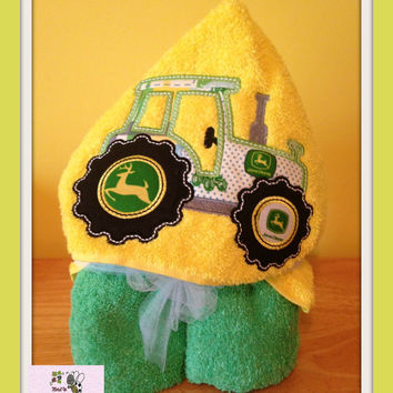 Tractor  hooded Bath towels