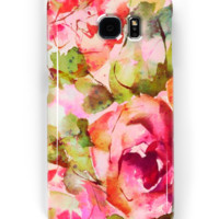 'roses abstraites/abstract roses' Coque et skin Samsung Galaxy by clemfloral