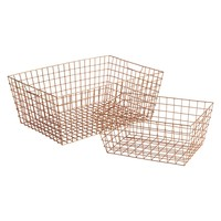 STANFORD Set of 2 copper wire baskets   Buy now at Habitat UK
