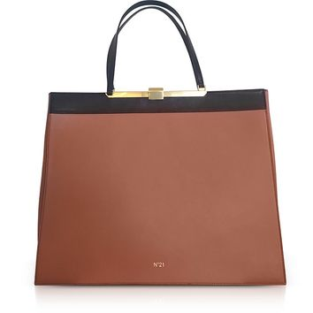 N°21 Two Tone Top-Handle Tote Bag