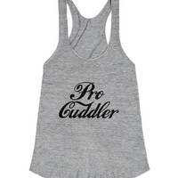 Pro Cuddler-Female Athletic Grey T-Shirt