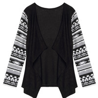 Black Tribal Pattern Cardigan