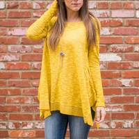Bright Side Of Life Top, Mustard