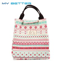 Cute Animal Whale Portable Insulated Canvas Lunch Bag Thermal Food Picnic for Women Kids Men Cooler Lunch Box Bag Tote