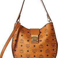 MCM Womens Patricia Studded Outline Visetos Hobo