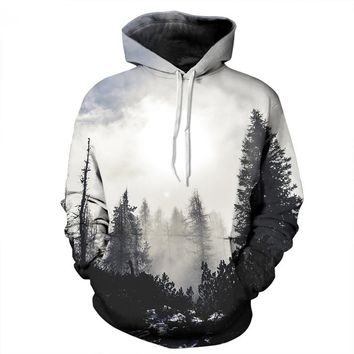 3d Printing Mens Hoodies and Sweatshirts Men Hooded Black White Lovers Sweetheart Clothing Pullovers Sudadera Hombre