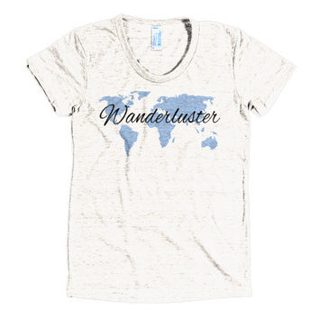 Wanderluster Globe Women's short sleeve soft t-shirt