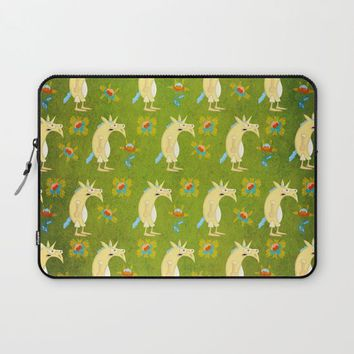 Flowers & Unicorns Laptop Sleeve by That's So Unicorny