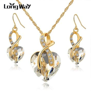 Austrian Crystal Luxury Jewelry Set