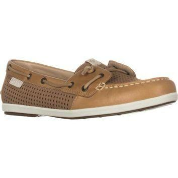 DCK7YE Sperry Top-Sider Coil Ivy Boat Shoes, Perf Tan, 9 US / 40 EU
