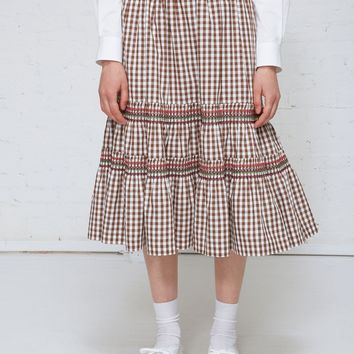Totokaelo Gingham Skirt - Comme des Garcons GIRL - Designers - Womens