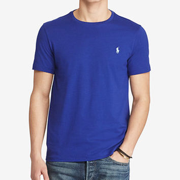 Polo Ralph Lauren Men's Custom Fit Jersey Crewneck | macys.com