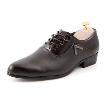 Mens Casual Two Tone Dress Shoes