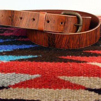 *Customizable* Leather Belt with Woodgrain