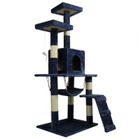 """New Navy Blue 57"""" Cat Tree Condo Furniture Scratch Post Pet House 5777"""