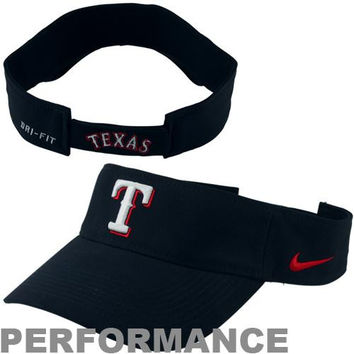 Nike Texas Rangers Dri-FIT Stadium Adjustable Performance Visor - Navy Blue
