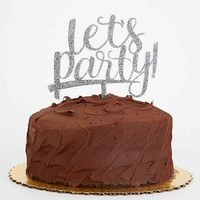 Alexis Mattox Design Lets Party! Cake Topper- Silver One