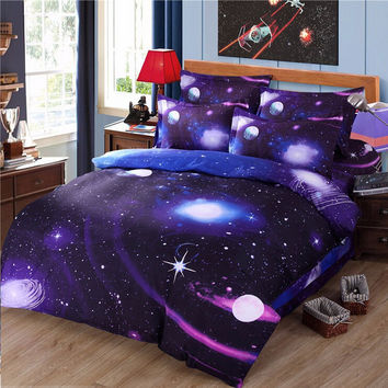 Winter Galaxy Skull Thick Brand bedding set Bohemian Print queen Bed Set Bed Clothes Duvet/Quilt Cover Set 3PCS