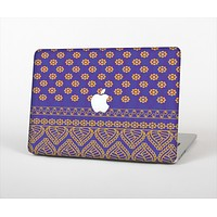 The Tall Purple & Orange Vintage Pattern Skin Set for the Apple MacBook Air 13""