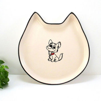 Ceramic plate, ceramic cat plate, ceramics plates, pottery plate, handmade plate, serving plate, plates, handmade plates, cat plate, cat