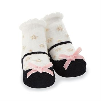 MUD PIE BLACK STAR SOCK
