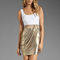 Bailey 44 Biohazard Dress in White/Gold from REVOLVEclothing.com
