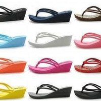 Rubber Slip-on Casual Plain Fashion Sandals