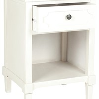 Rosaleen Storage Side Table White