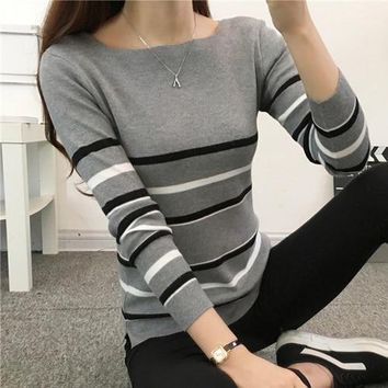 STYLEDOME Sweater Women 2018 Knit High Elastic Jumper Women Sweaters And Pullovers