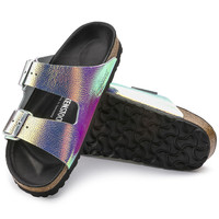 Arizona Lux Natural Leather Ombre Pearls Silver Black | BIRKENSTOCK
