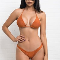 Sunny Shore Two Piece Swimsuit - Rust