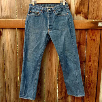 Vintage Levis 501 Men's Jeans 70's 80's Dark Wash 32x32 Button Fly