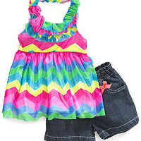 Nannette Baby Set, Baby Girls Two-Piece Halter Top and Shorts - Kids Baby Girl (0-24 months) - Macy's