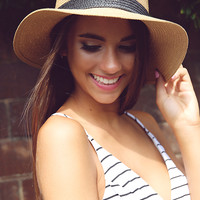 Brandy Straw Hat - Brown