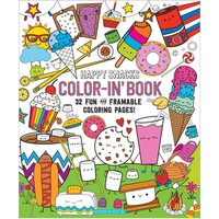 OOLY Color-in' Happy Snacks Book