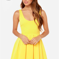 LULUS Exclusive Close to You Yellow Dress