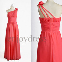 Custom Cheap Pink  Long Prom Dresses Evening Dress Formal Party Dress Simple Wedding Party Dress Bridesmaid Dresses 2014 New Dress Party