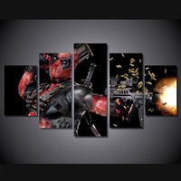 Deadpool Canvas Painting Room Decor