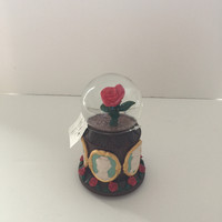 disney parks beauty and the beast rose musical snow globe new with tags