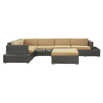 2013 New Style outdoor wicker commercial modular sofa