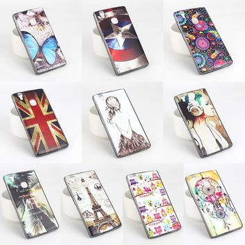 Cell phone case for Doogee X5 Max X5 Max Pro metal frame relief back cover ultra-thin DIY mobile phone shell.