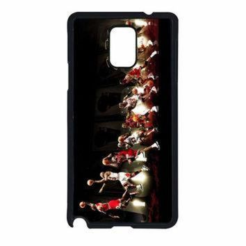 DCKL9 Michael Jordan NBA Chicago Bulls Dunk Samsung Galaxy Note 4 Case