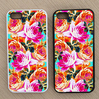 Floral Pattern iPhone Case, iPhone 5 Case, iPhone 4S Case, iPhone 4 Case - SKU: 184