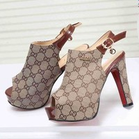 GUCCI Popular Princess High Heels High-Heeled Shoes Sandals