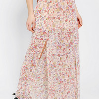 Pins And Needles Silky Double-Slit Maxi Skirt